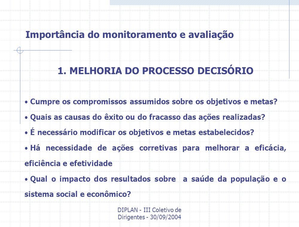 1. MELHORIA DO PROCESSO DECISÓRIO