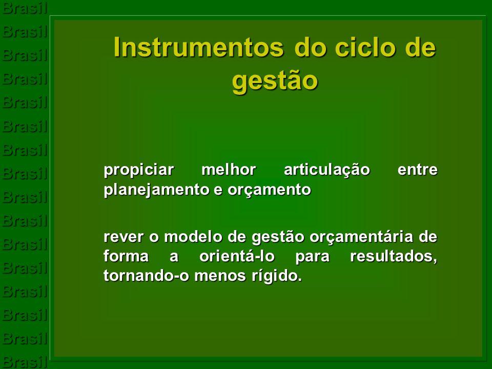 Instrumentos do ciclo de gestão