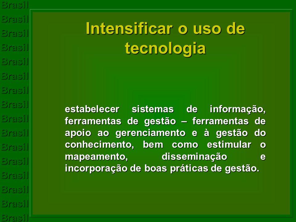 Intensificar o uso de tecnologia