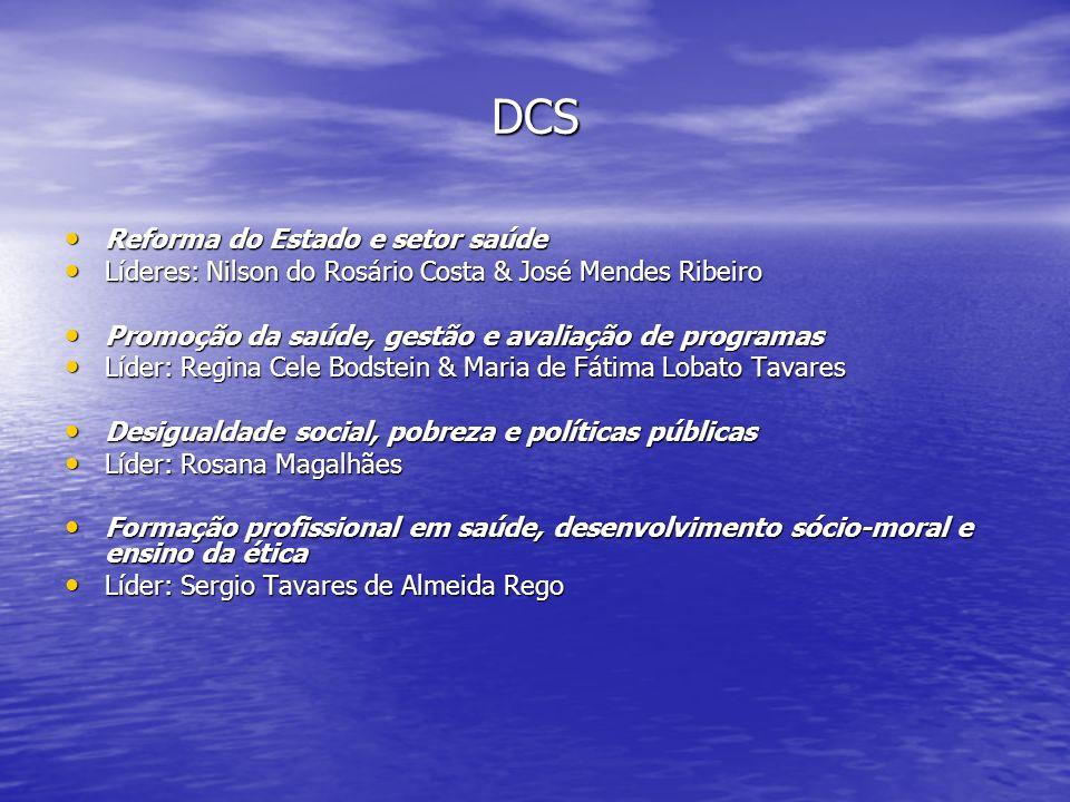 DCS Reforma do Estado e setor saúde