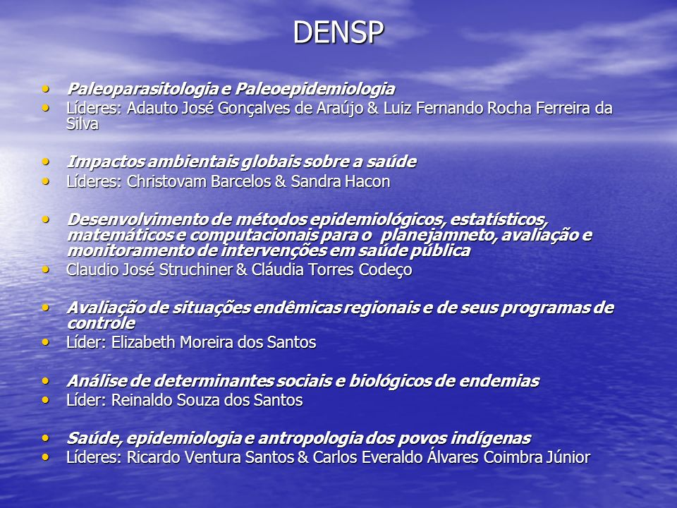 DENSP Paleoparasitologia e Paleoepidemiologia