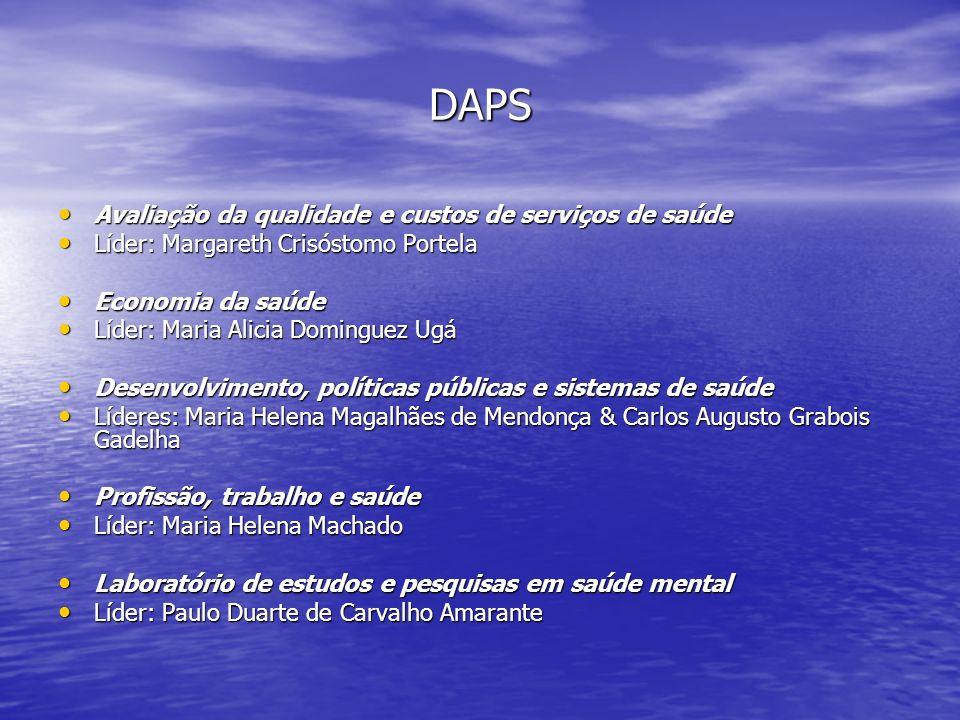 DAPS Avaliação da qualidade e custos de serviços de saúde