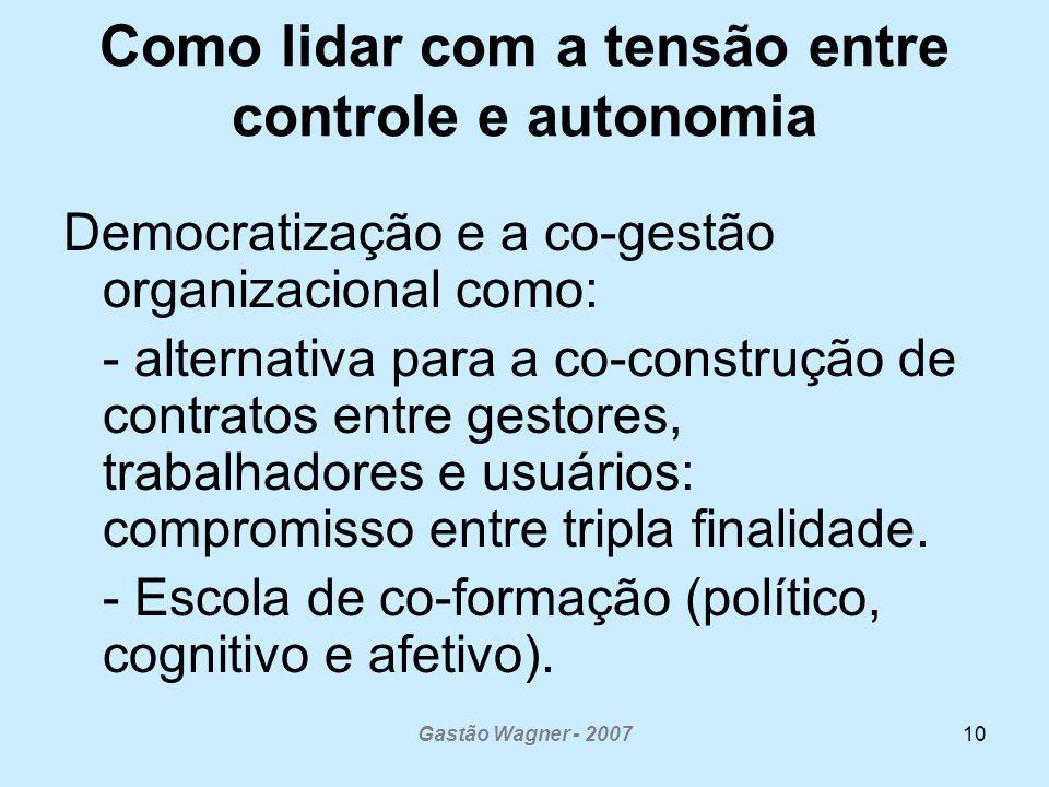 Como lidar com a tensão entre controle e autonomia