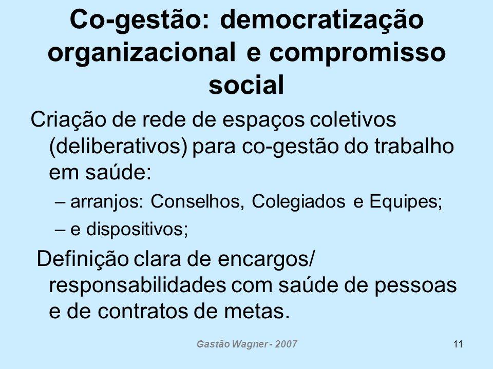 Co-gestão: democratização organizacional e compromisso social