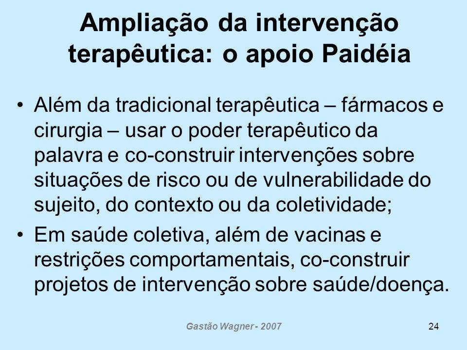 Ampliação da intervenção terapêutica: o apoio Paidéia