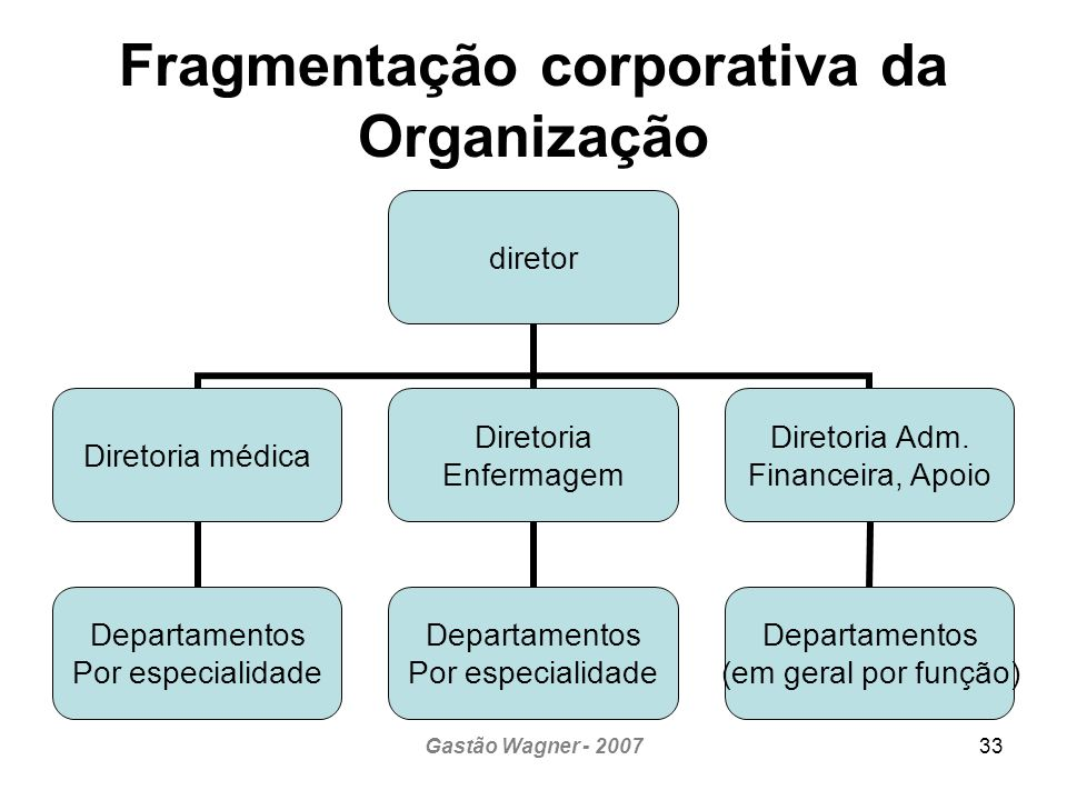 Fragmentação corporativa da Organização