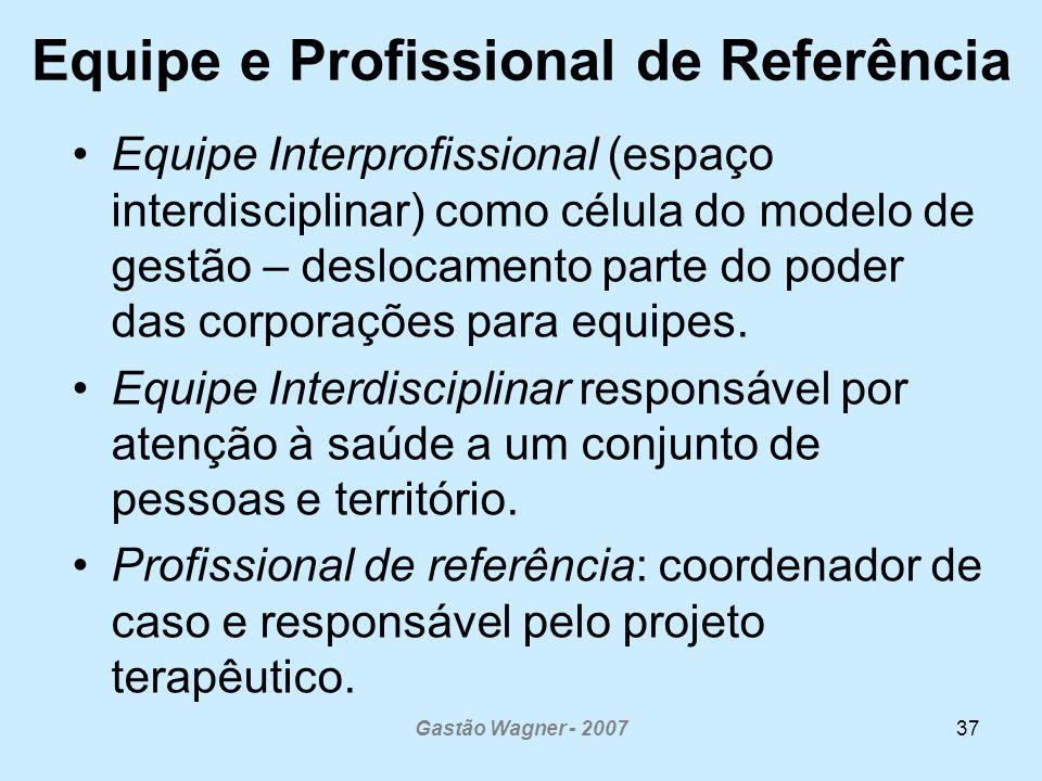 Equipe e Profissional de Referência