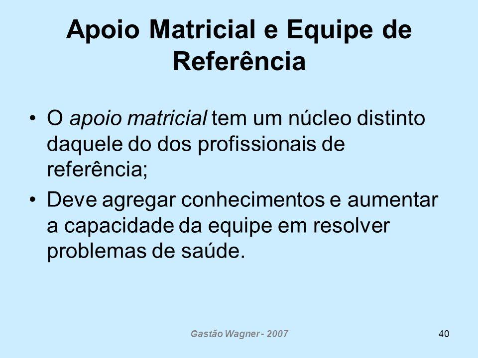 Apoio Matricial e Equipe de Referência