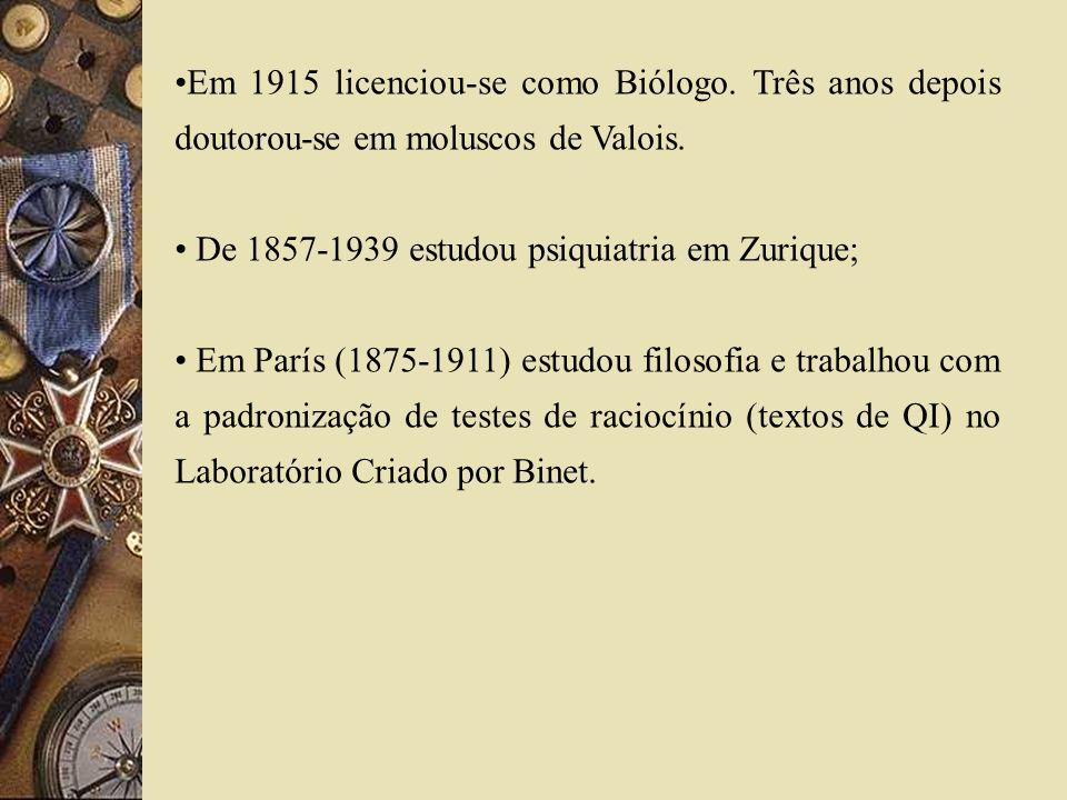 Em 1915 licenciou-se como Biólogo