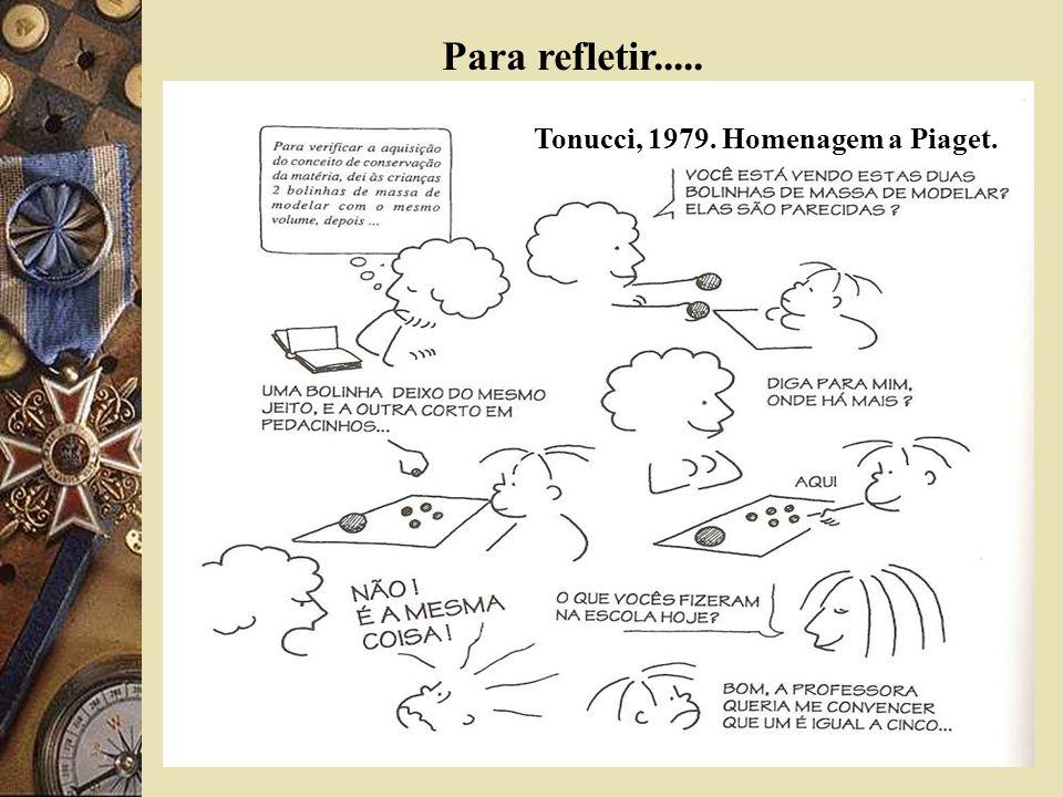 Para refletir..... Tonucci, 1979. Homenagem a Piaget.