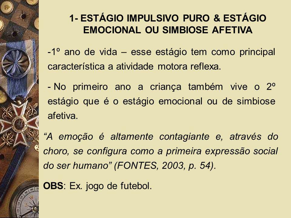 1- ESTÁGIO IMPULSIVO PURO & ESTÁGIO EMOCIONAL OU SIMBIOSE AFETIVA