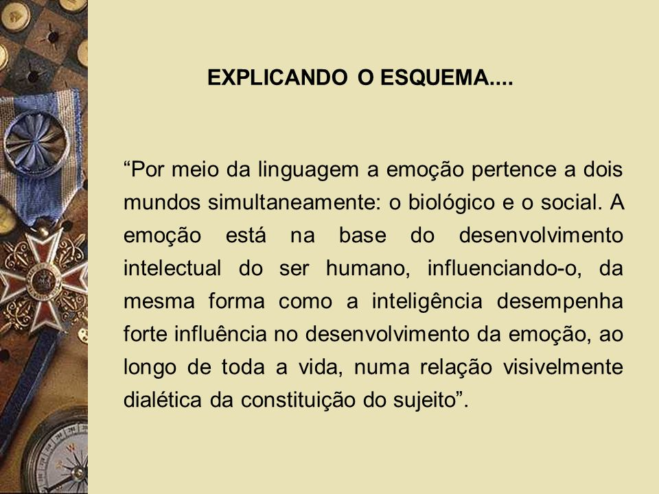 EXPLICANDO O ESQUEMA....