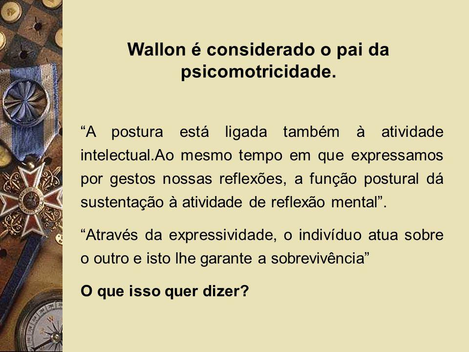 Wallon é considerado o pai da psicomotricidade.