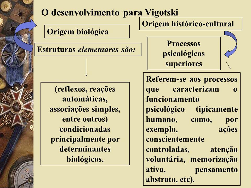 O desenvolvimento para Vigotski Processos psicológicos superiores
