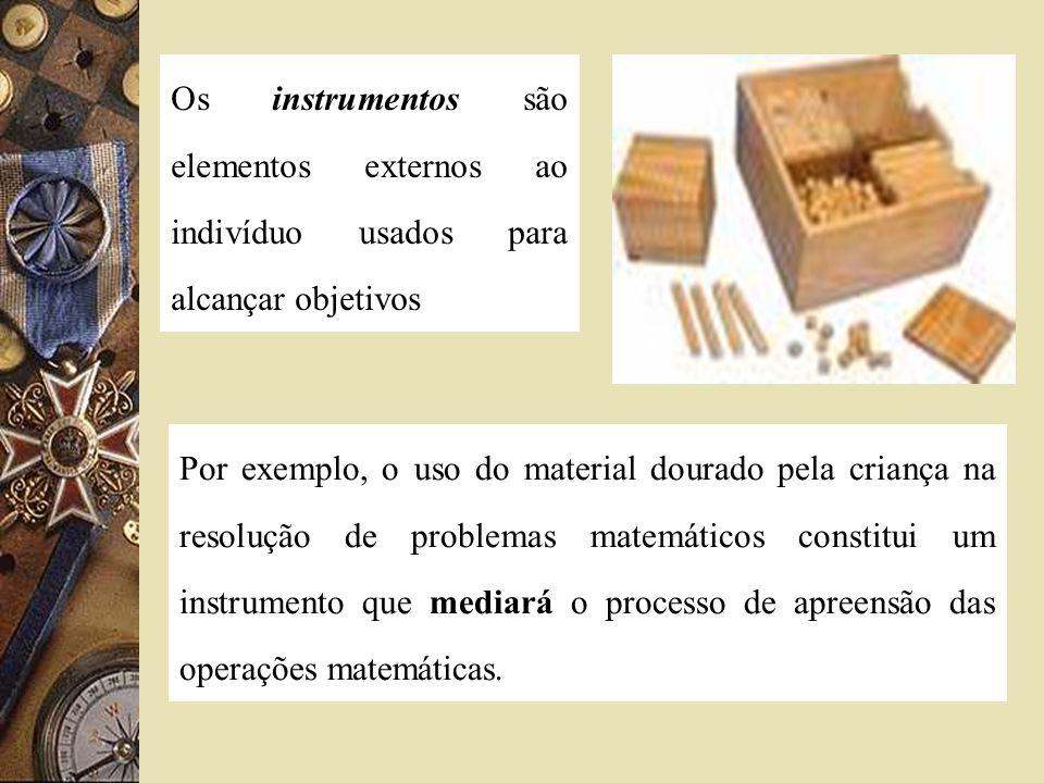 Os instrumentos são elementos externos ao indivíduo usados para alcançar objetivos