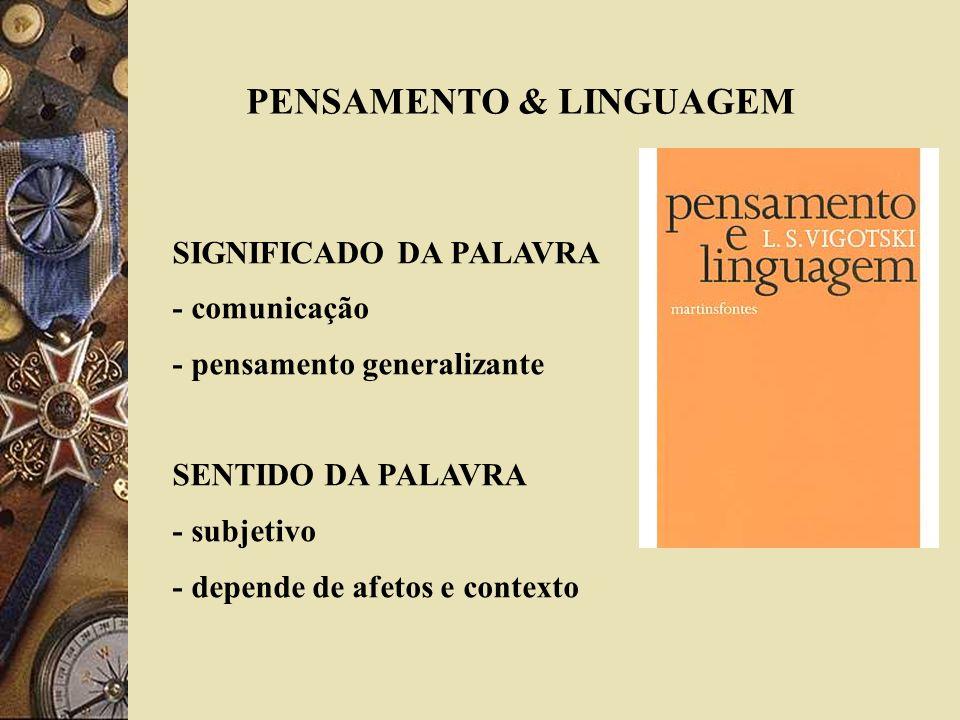 PENSAMENTO & LINGUAGEM