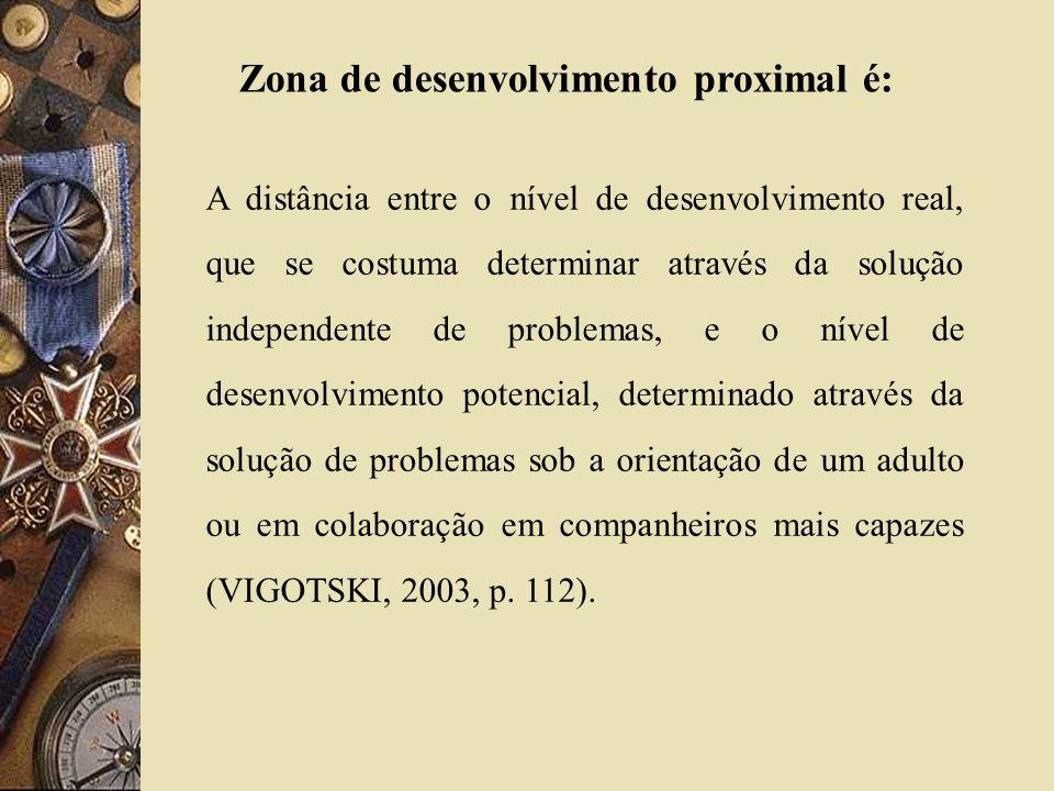 Zona de desenvolvimento proximal é: