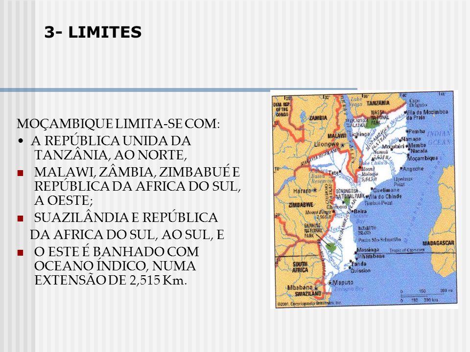 3- LIMITES MOÇAMBIQUE LIMITA-SE COM: