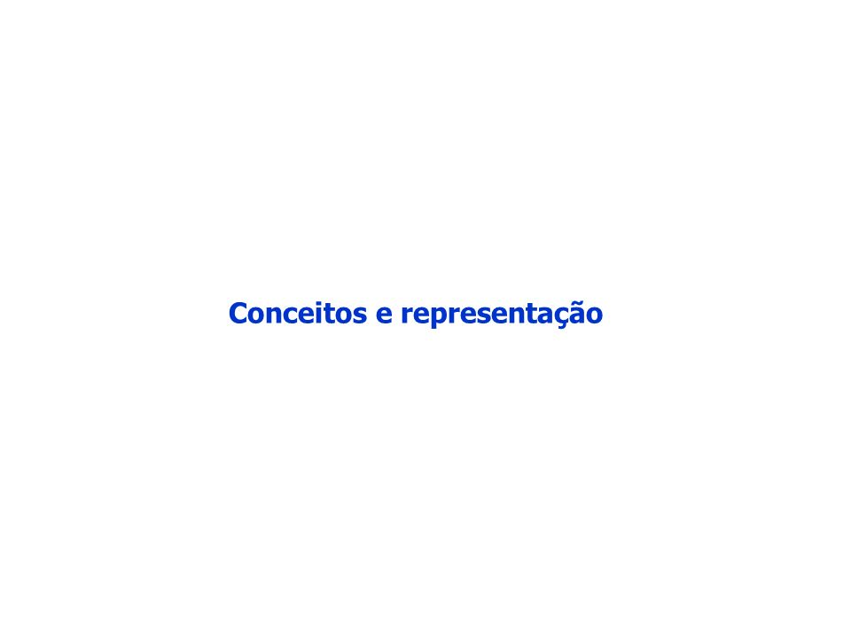 Conceitos e representação