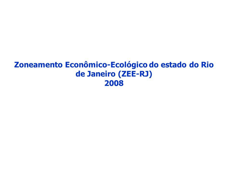 Zoneamento Econômico-Ecológico do estado do Rio de Janeiro (ZEE-RJ) 2008
