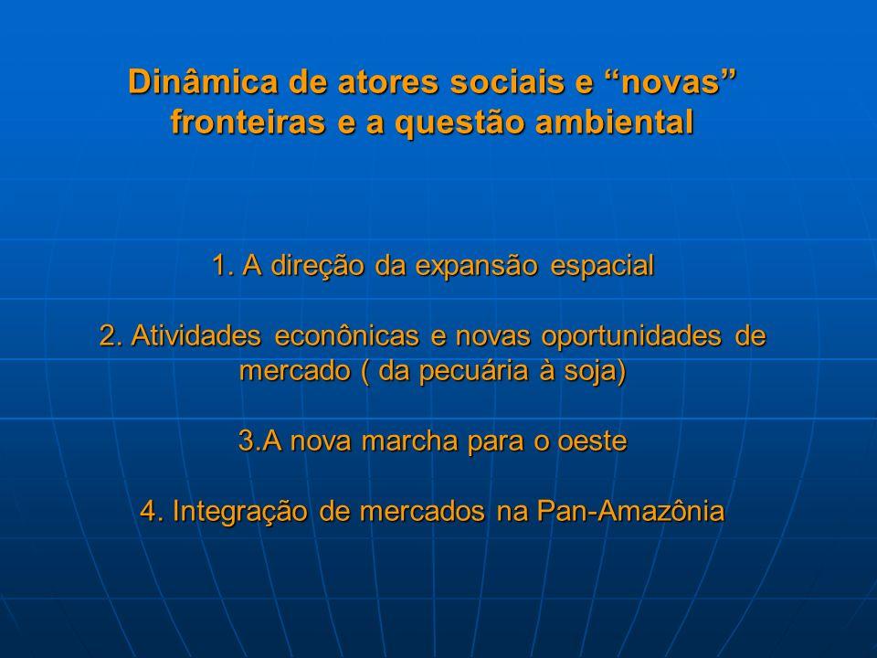 Dinâmica de atores sociais e novas fronteiras e a questão ambiental 1.