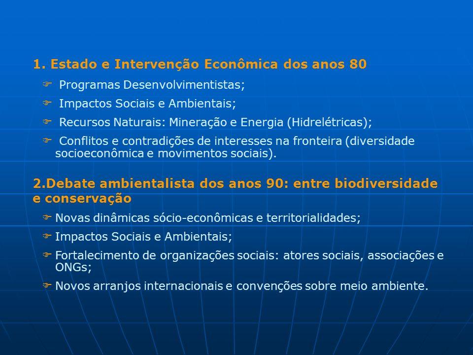 1. Estado e Intervenção Econômica dos anos 80