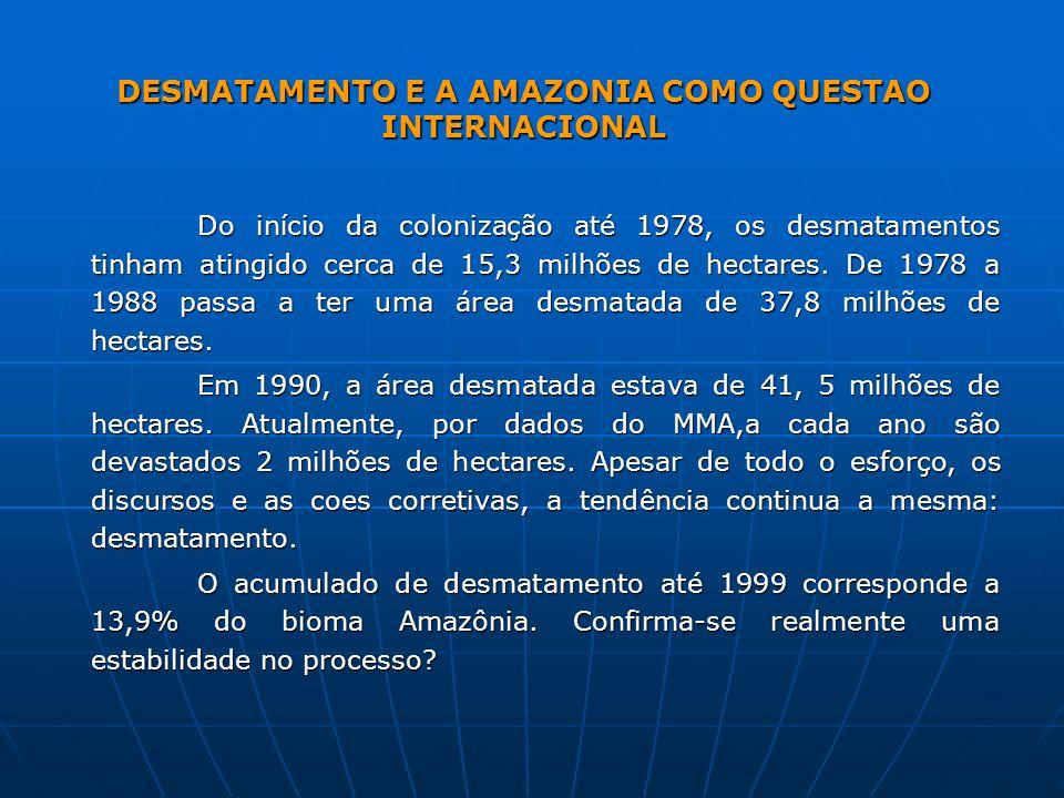 DESMATAMENTO E A AMAZONIA COMO QUESTAO INTERNACIONAL