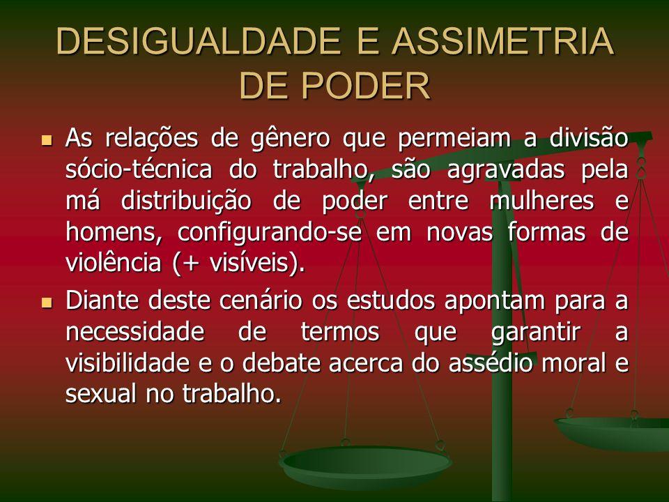 DESIGUALDADE E ASSIMETRIA DE PODER
