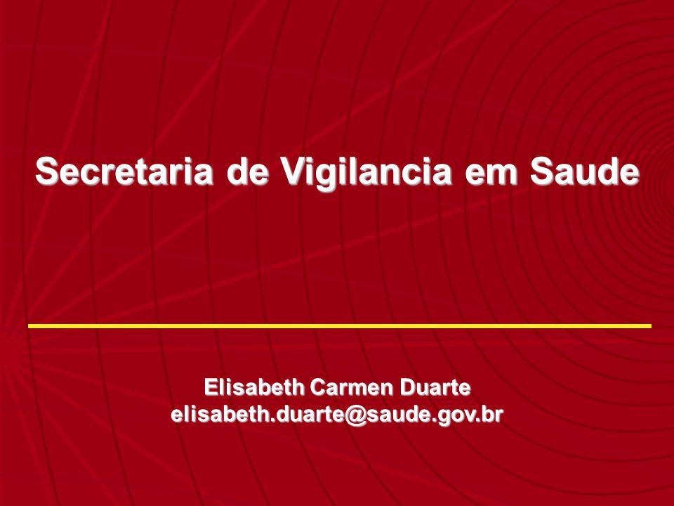 Secretaria de Vigilancia em Saude Elisabeth Carmen Duarte