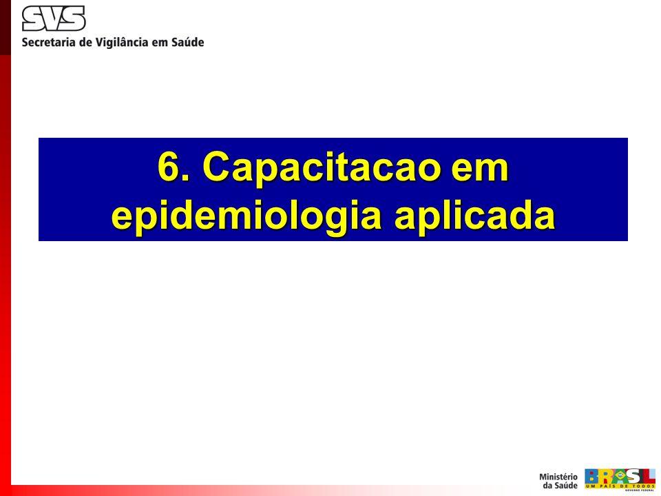 6. Capacitacao em epidemiologia aplicada