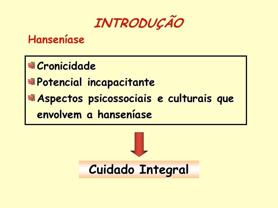 INTRODUÇÃO Cuidado Integral Hanseníase Cronicidade