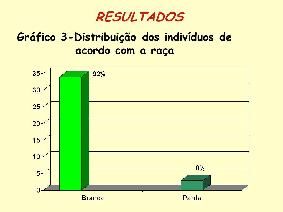 Gráfico 3-Distribuição dos indivíduos de acordo com a raça