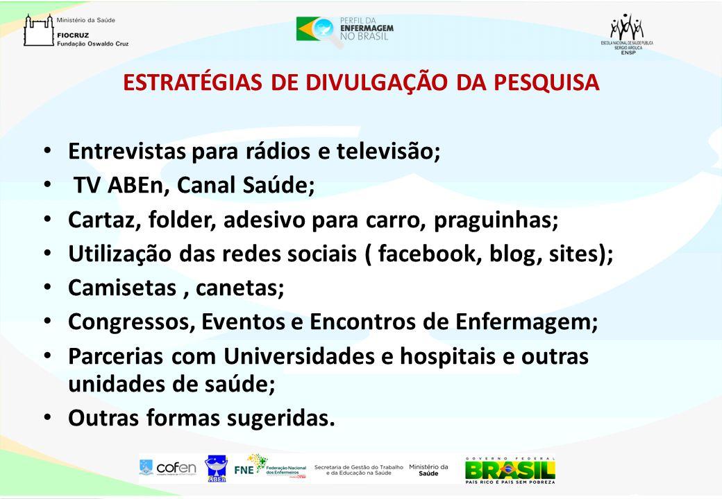ESTRATÉGIAS DE DIVULGAÇÃO DA PESQUISA