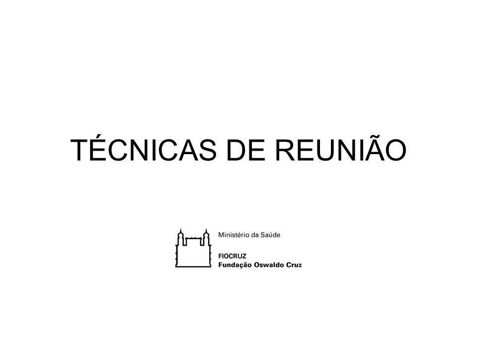 TÉCNICAS DE REUNIÃO