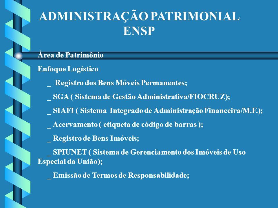 ADMINISTRAÇÃO PATRIMONIAL ENSP