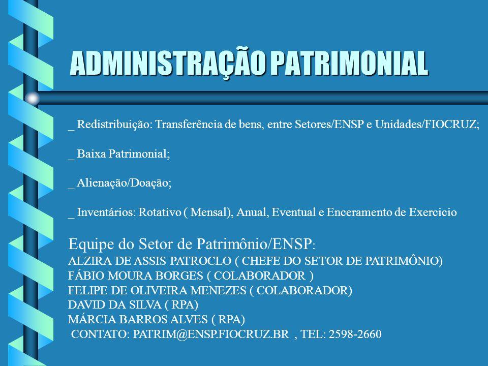 ADMINISTRAÇÃO PATRIMONIAL