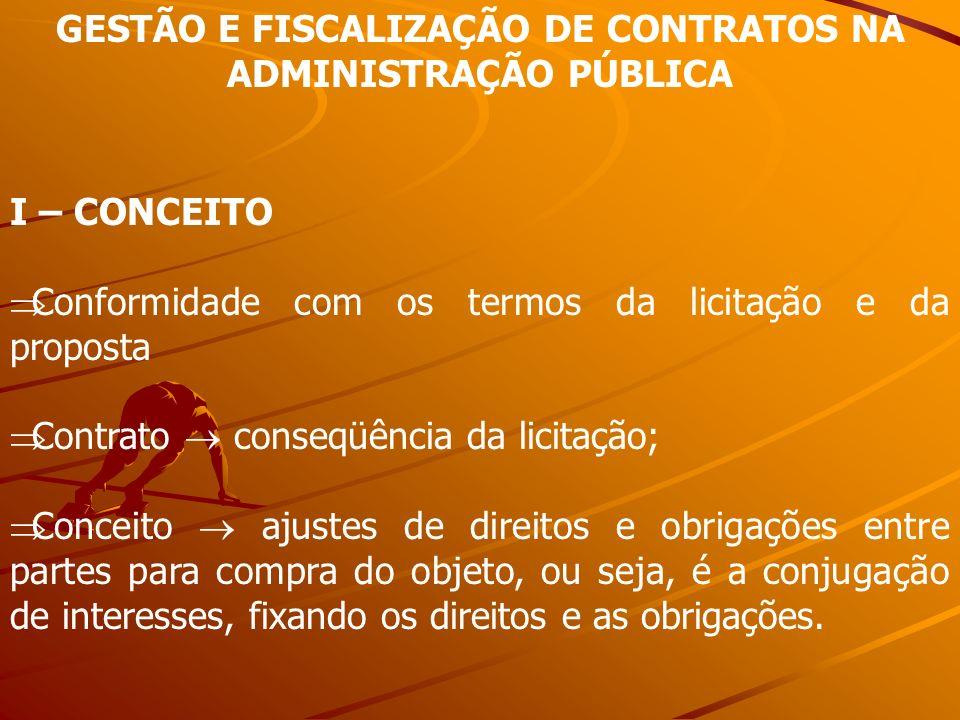 GESTÃO E FISCALIZAÇÃO DE CONTRATOS NA ADMINISTRAÇÃO PÚBLICA