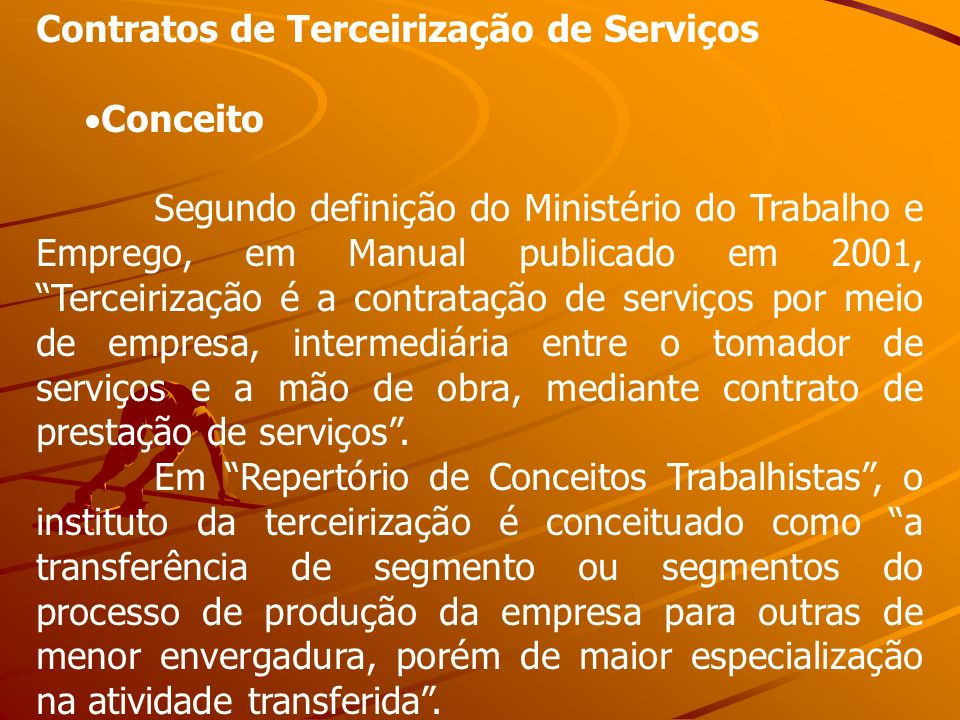 Contratos de Terceirização de Serviços