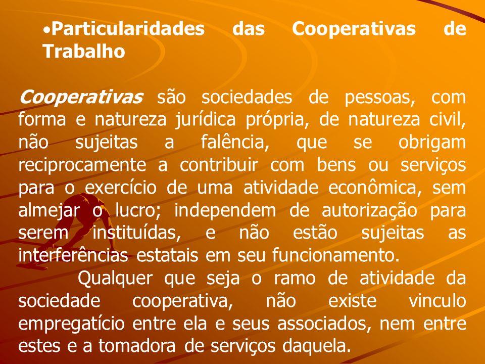 Particularidades das Cooperativas de Trabalho