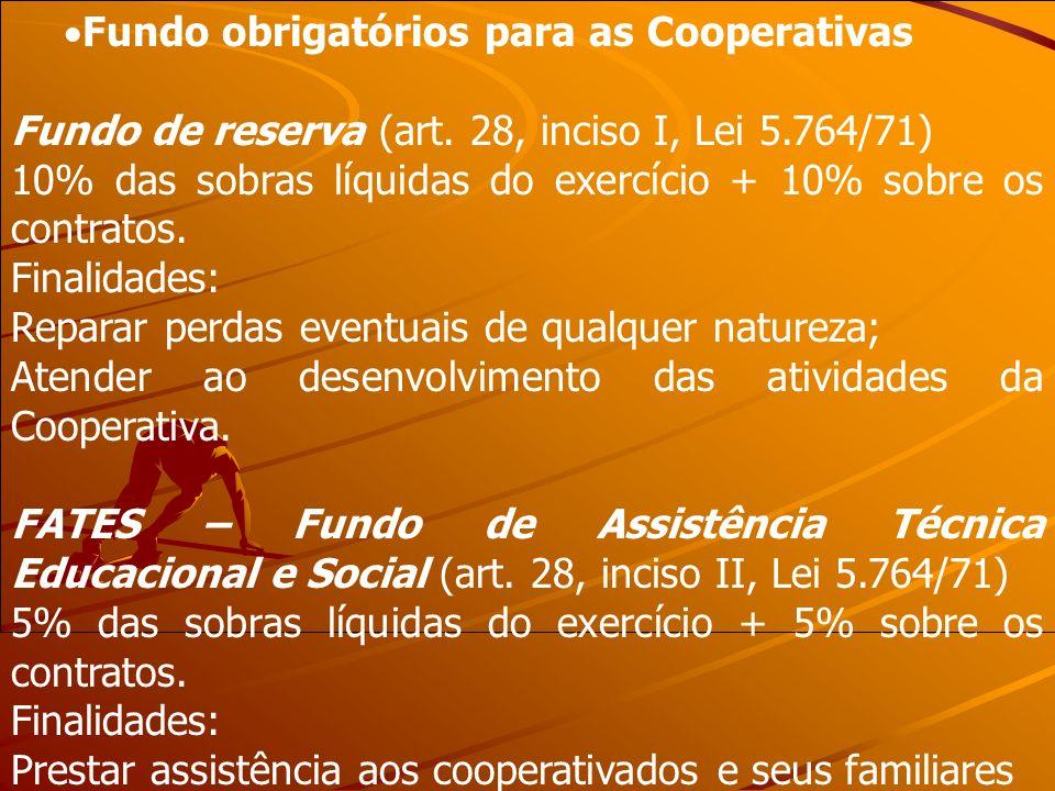 Fundo obrigatórios para as Cooperativas