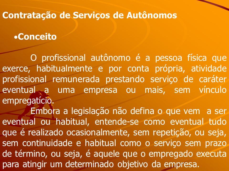 Contratação de Serviços de Autônomos