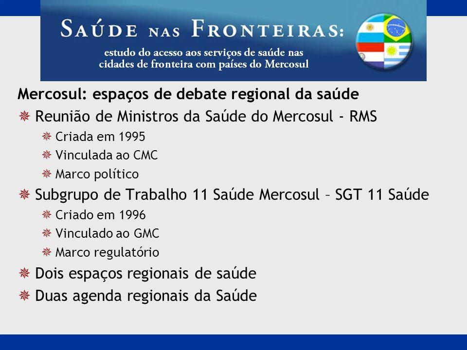 Mercosul: espaços de debate regional da saúde
