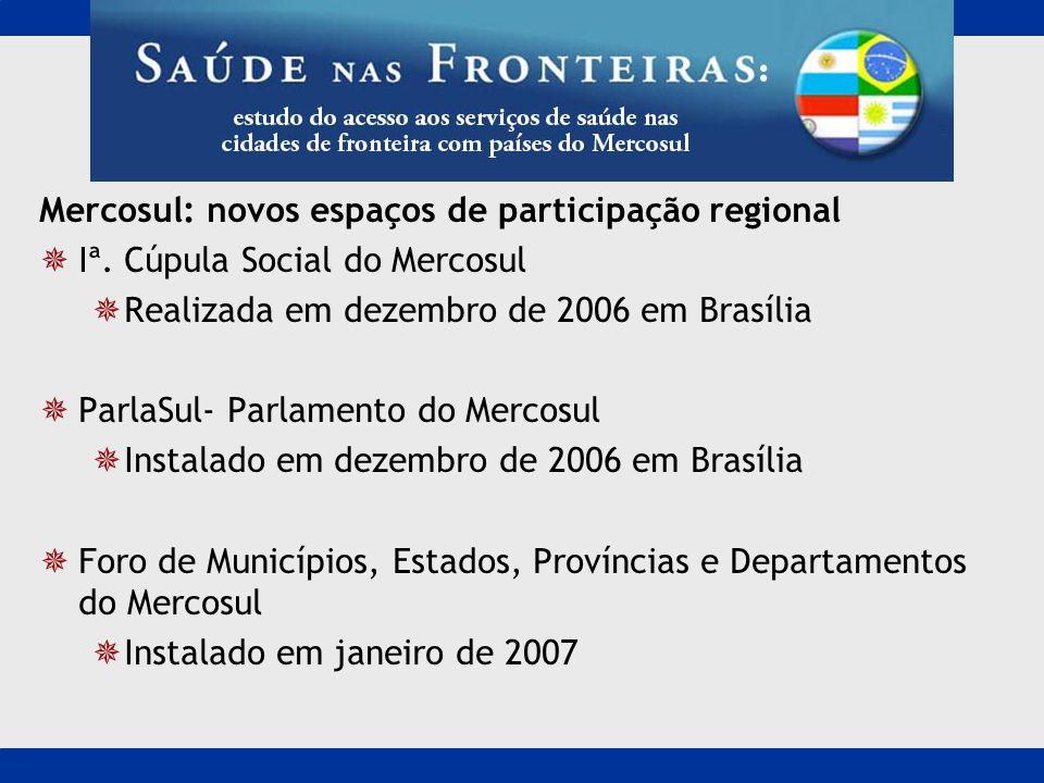 Mercosul: novos espaços de participação regional