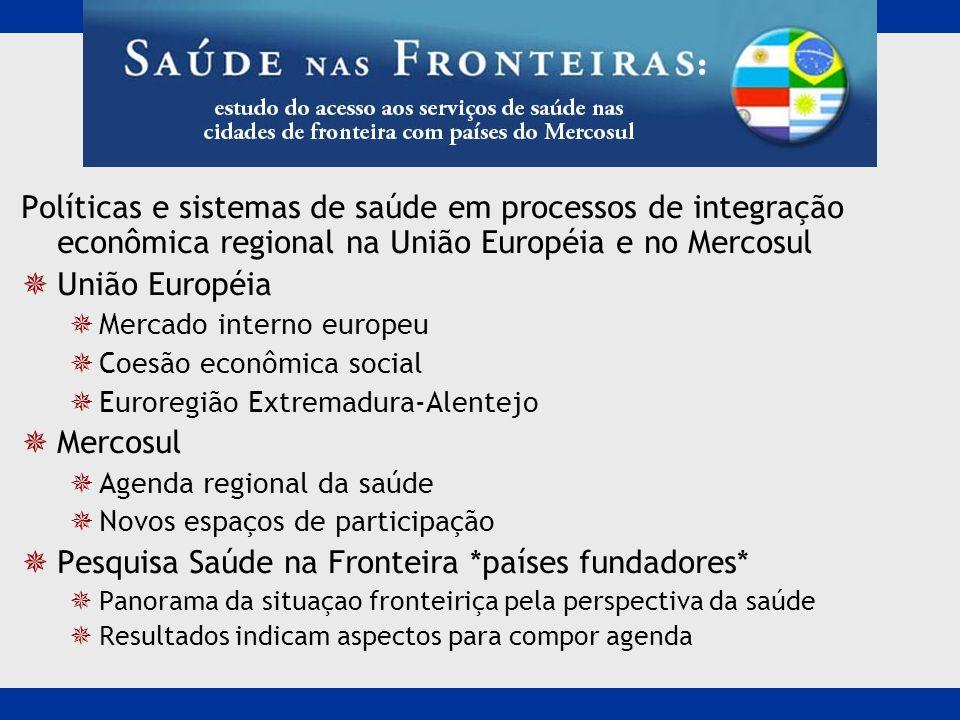 Pesquisa Saúde na Fronteira *países fundadores*