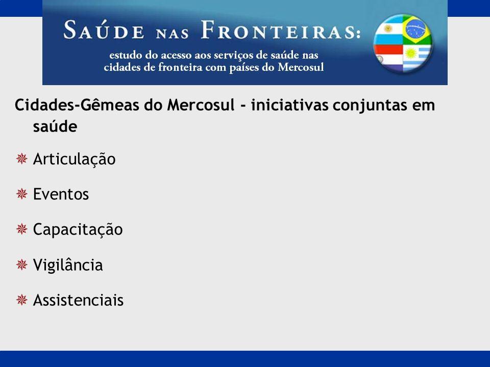 Cidades-Gêmeas do Mercosul - iniciativas conjuntas em saúde