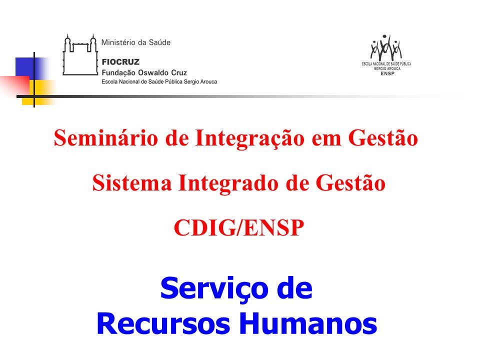 Seminário de Integração em Gestão Sistema Integrado de Gestão
