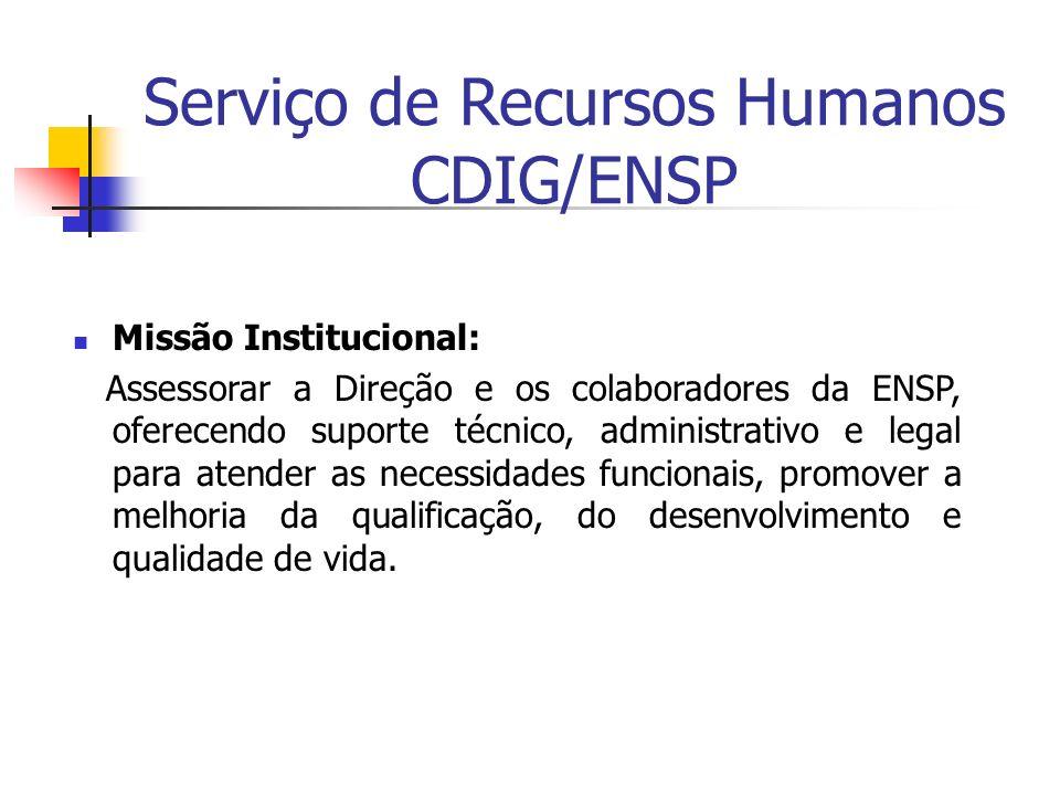 Serviço de Recursos Humanos CDIG/ENSP