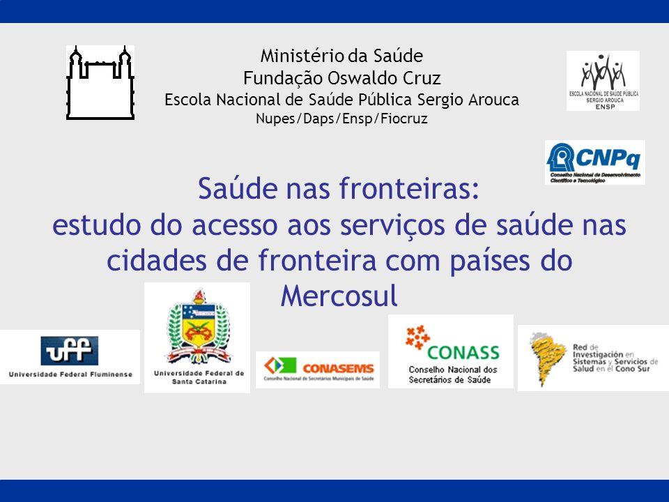 Ministério da SaúdeFundação Oswaldo Cruz. Escola Nacional de Saúde Pública Sergio Arouca. Nupes/Daps/Ensp/Fiocruz.