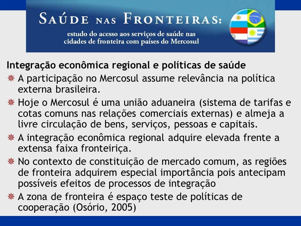 Integração econômica regional e políticas de saúde