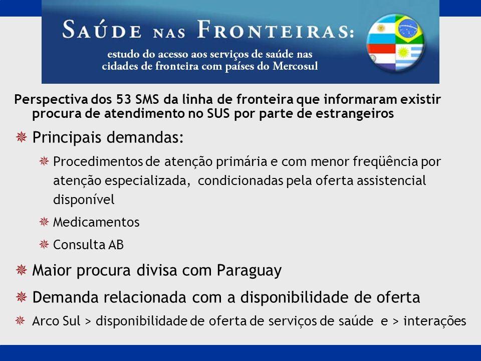 Maior procura divisa com Paraguay
